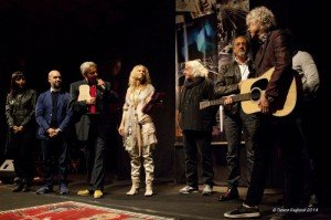 Award and Martin Guitar to Bob Geldof